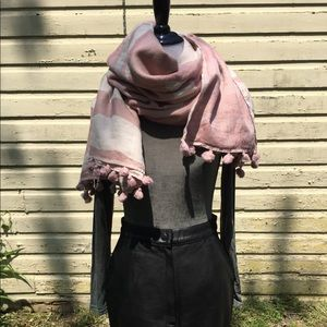 Lululemon blush pink and cream scarf/wrap